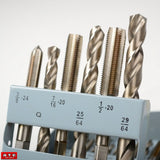 SAE Fine Tap and Drill Bit Set - JABETC - 2