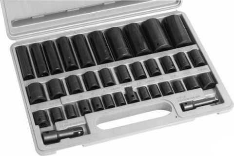 38 Piece Metric and Sae Impact Socket Set - JABETC