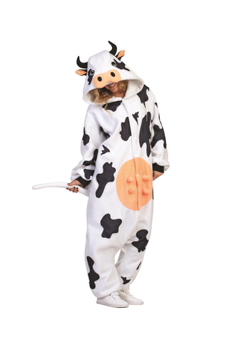 Adult Black and White Cow Costume - tool
