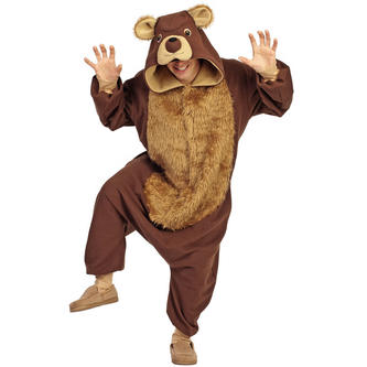 Adult Brown Bear Costume Outfit - tool
