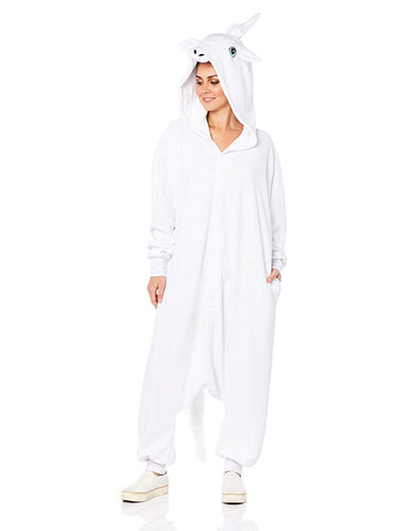 Adult White Unicorn Costume Outfit - tool