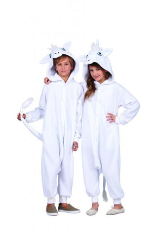 Child's White Unicorn Costume Medium - tool