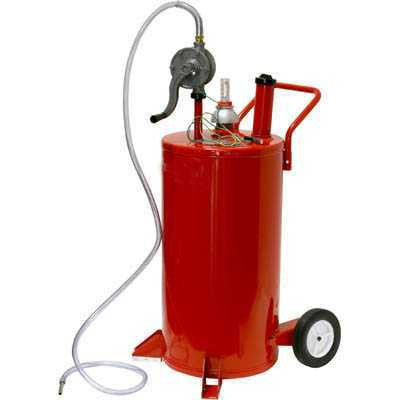 Portable Rolling Diesel Bulk Fuel Gas Transfer Storage Pump Oil Tank On Wheels - tool