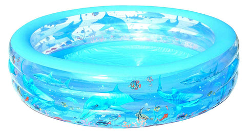 "90"" Large Round Inflatable Swimming Pool - tool"