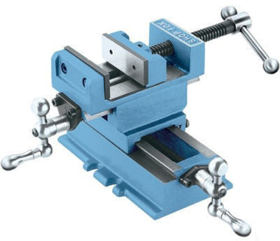 "3"" 2 Way Milling Vise with Cross Sliding for Drill Press Tool Machine Metal Wood - JABETC"