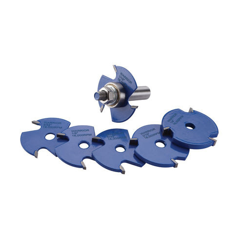 7 Pc Slot Cutting Router Bit Set