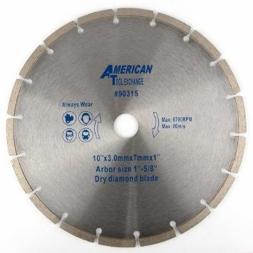 "10"" Dry Cutting Diamond Tile Saw Tilesaw Blade Masonry Tile Concrete Cutting - tool"