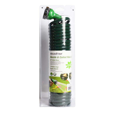 25 Foot Coil Coiled Water Hose
