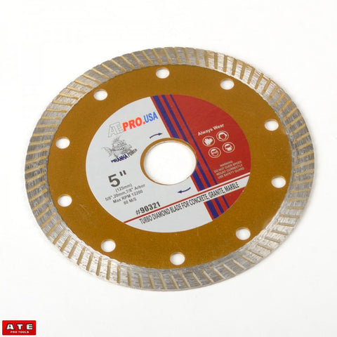 "5"" Diamond Blade for Cutting Stone Concrete Marble Granite"