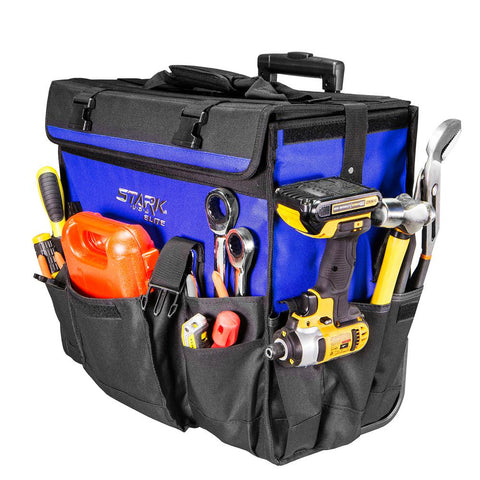 Large Rolling Tool Storage Bag Case - tool