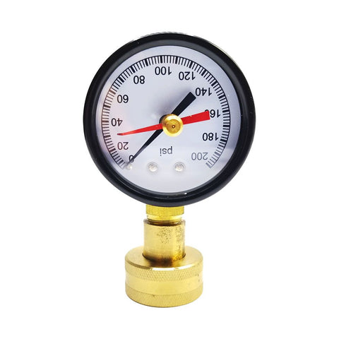 "Dial Water Pressure Testing Tester Gauge With 3/4"" Female Hose"