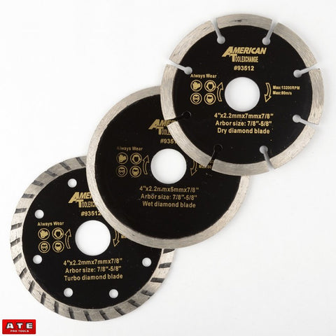 4 Inch Diamond Blade Assortment Pack for Hand Grinder