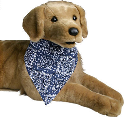 Blue Paisley Bandana Collar for Medium Sized Dog Pet - tool