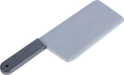 Artificial Fake Meat Cleaver Knife Halloween Prop Scary Plastic Butcher - tool