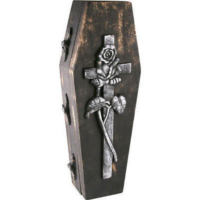 Halloween Fake Coffin Casket Box Case Prop Decoration Graveyard Cemetery Decor - tool