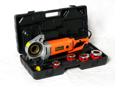 Handheld Electric Pipe Threading Power Tool Set W/ Dies - tool