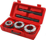 Large Hand Die Ratcheting Pipe Thread Threader Tool Ratchet Threading Kit Set - JABETC - 2