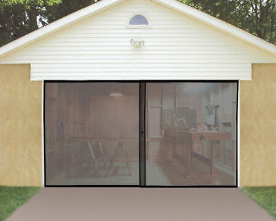 Roll Up Bug Screen Door for Single or One Car Garage - JABETC