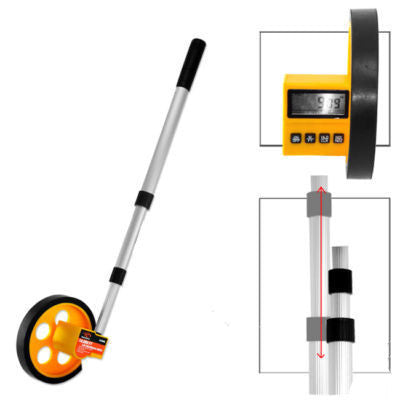LCD Digital Walking Rolling Tape Measure Wheel - tool