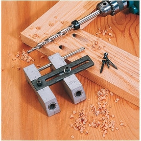 Woodworking Wood Pocket Hole Drill Guide Jig Tool Kit Pockethole Face Frame - JABETC