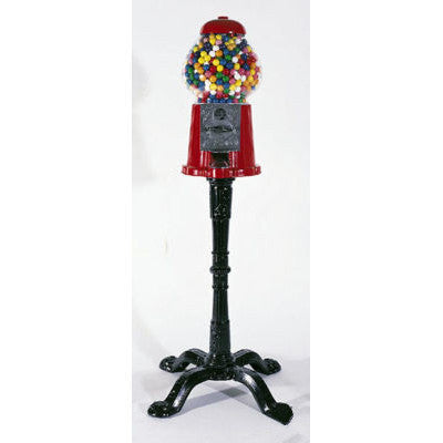 Home Carousel Gumball Candy Gum Vending Machine with Cast Iron Metal Stand Base - JABETC