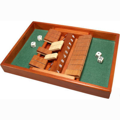 Double Sided Wooden Shut The Box Dice Game Set - JABETC