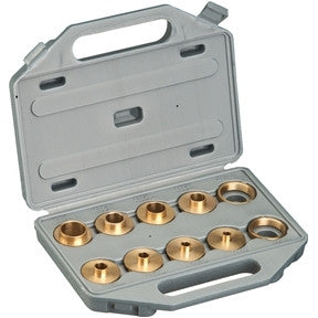 Brass Router Template Bushing Guide Kit Set for Porter Cable Base Inlay Hinge - JABETC