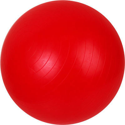 Inflatable Red Stability Exercise Fitness Workout Exercising Yoga Round Ball - tool