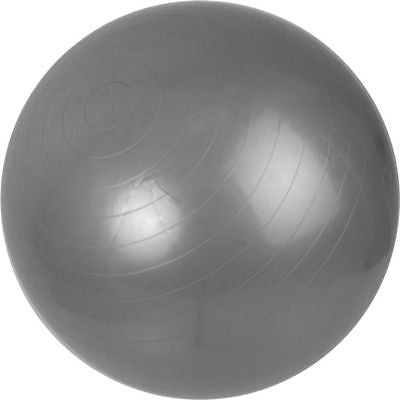 Blow Up Silver Stability Exercise Yoga Workout Exercising Fitness Pilates Ball - JABETC
