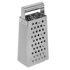 4 Way Handheld Hand Held Manual Metal Stainless Steel Cheese Grater Cheeze Grate - tool