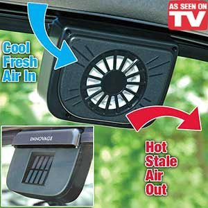 Solar Sun Powered Power Window Fan Ventilator Auto Cool Air Vent for Car Vehicle - JABETC