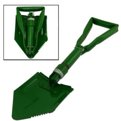 Folding Fold Up Camp Steel Shoval Survival Military Camping Shovel Tool Pick - JABETC