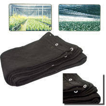 12 x 12 Black Mesh Net Sun Shade Tarp for Porch or Greenhouse Canopy Sunshade - JABETC