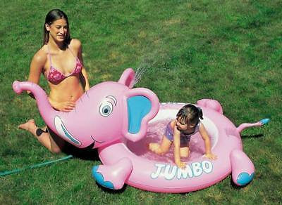 Inflatable Blow Up Elephant Child's Swimming Swim Wading Pool for Baby Infant - JABETC