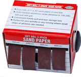 Hand Sand Rolls of Sandpaper Emery Cloth Sanding Sander Strips Roll Dispenser - JABETC - 2