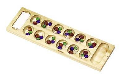 Wooden Mancala Rock Stone Game Set Kit - JABETC