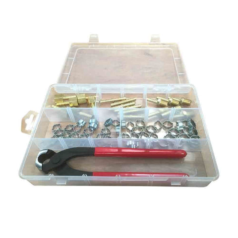Air Hose Barb Crimping Crimper Repair Tool Kit - tool