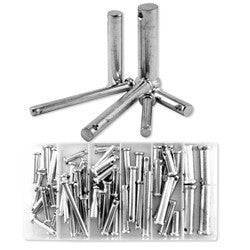 60 Piece Steel Loose Metal Clevis Pin with Head Assortment Set Tool Kit - tool