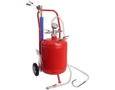 Portable Rolling Oil Fluid Air Vacuum Extractor Tank Holding Drain Change Sucker - JABETC