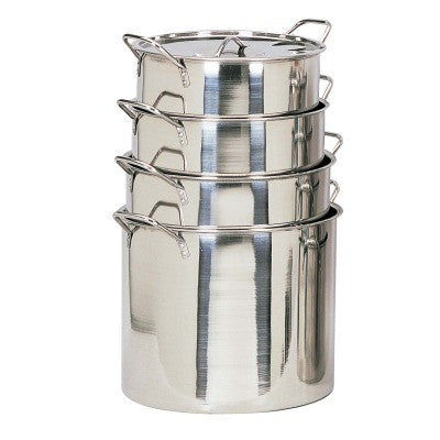 4 Piece Small Stainless Steel Stock Pots - JABETC