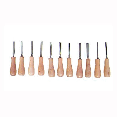 11 Piece Hand Hobby Carving Tool for Woodworking Carver Set Kit - JABETC
