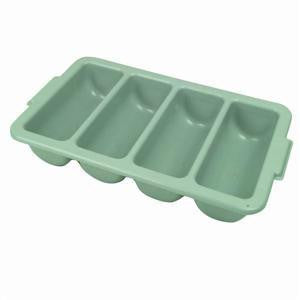 Divided Plastic Restaurant Cutlery Utensil Storage Box Tray Tub Buser Busser - tool