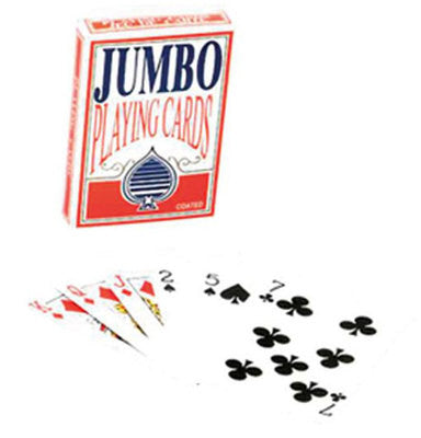 Deck Pack of Jumbo Size Sized Giant Extra Big Poker Playing Cards - tool