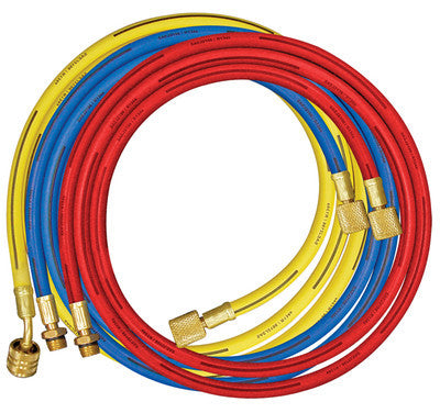 "A/C 96"" Long Air Conditioning Manifold Replacement Charging Hoses Gauge - JABETC"