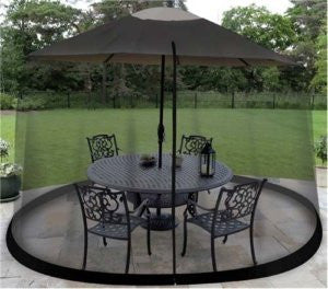 Bug Screen for Outdoor Patio Table Over The Umbrella Cover Net Netting Mosquito - JABETC