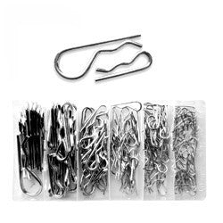150 Piece Steel Metal Hair Pin Clip Key Pin Assortment Kit Set - JABETC