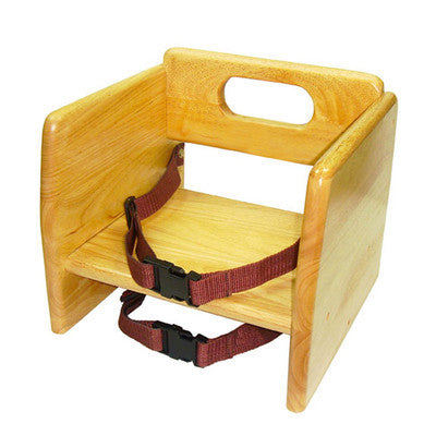 Natural Finish Wooden Food Restaurant Child Toddler Baby Booster Seat Chair - JABETC