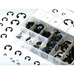 300 Piece Piece Eclip Metal Steel E-Clip Fastener Assortment Kit - tool