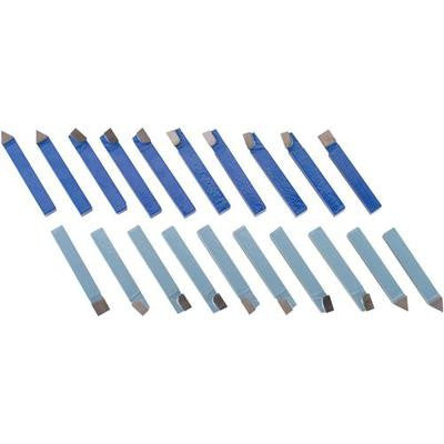 "20 Piece 1/2"" Carbide Tip Tipped Cutter Tool Bit Cutting Set for Metal Lathe Tooling - tool"
