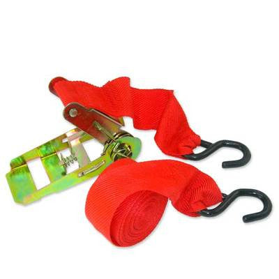 "1"" x 15 Foot Ratcheting Web Cargo Tie Hold Down Strap - JABETC"